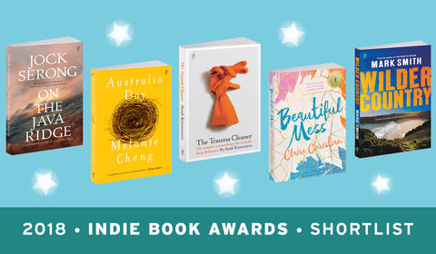 Five Text Authors on the 2018 Indies Shortlist!