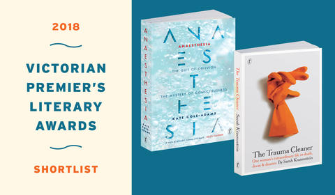 Kate Cole-Adams and Sarah Krasnostein Shortlisted for Vic Prem's Literary Award for Non-fiction