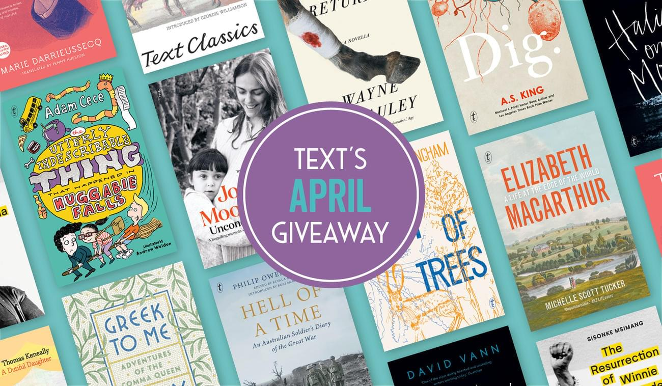 April's New Books and Giveaways