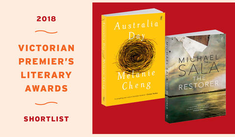 Melanie Cheng and Michael Sala Shortlisted for Vic Prem's Literary Award for Fiction