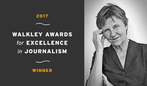 Helen Garner wins a 2017 Walkley Award for Excellence in Journalism