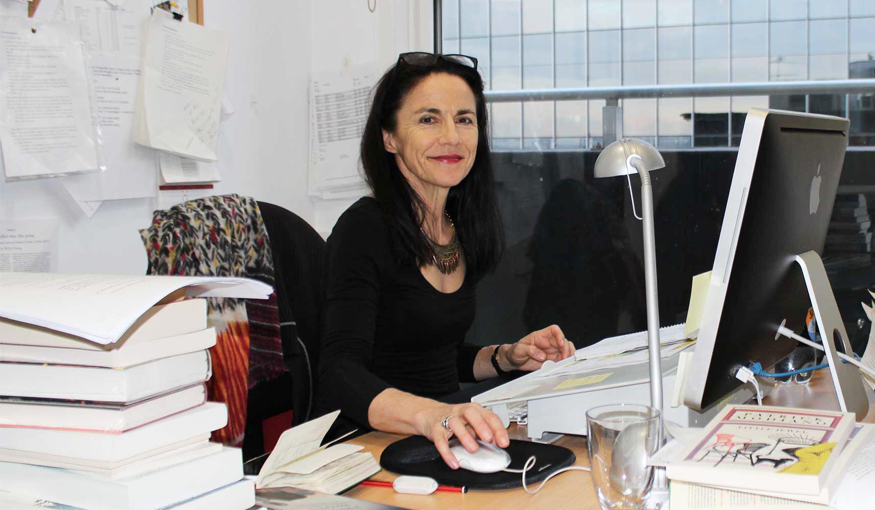 Penny Hueston at her editor's desk