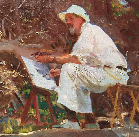 "Detail of ""The Artist Sketching (Dwight Blaney)"" by John Singer Sargent"