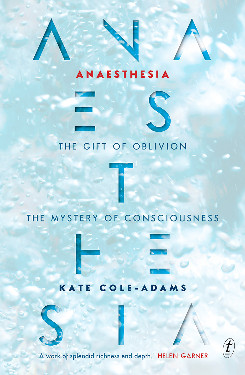 Cover of Anaesthesia by Kate Cole-Adams