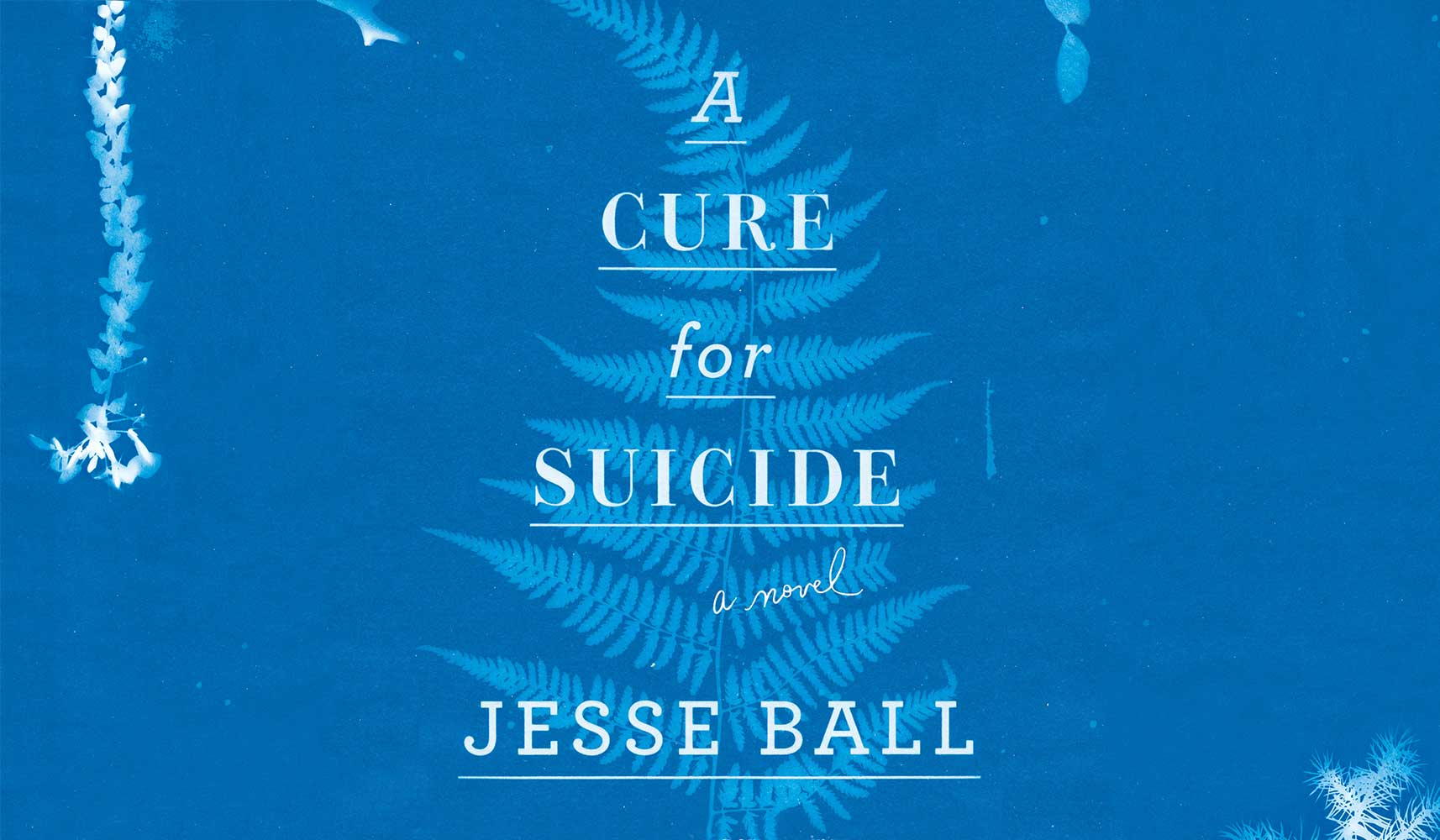 Detail from cover of A Cure For Suicide