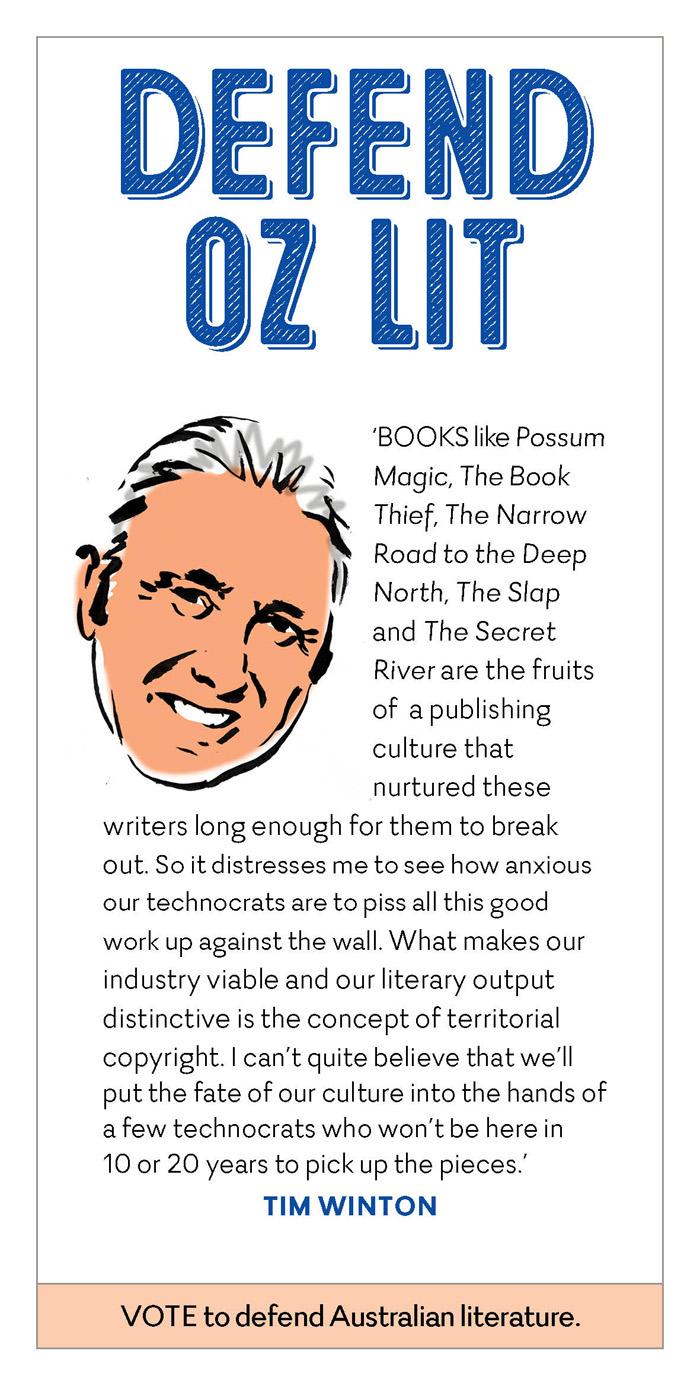 Tim Winton defending Australian literature