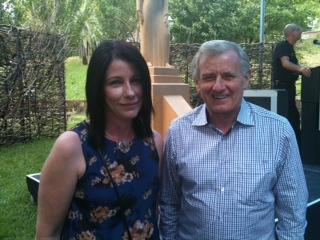 Vikki Wakefield with Federal Arts Minister Simon Crean