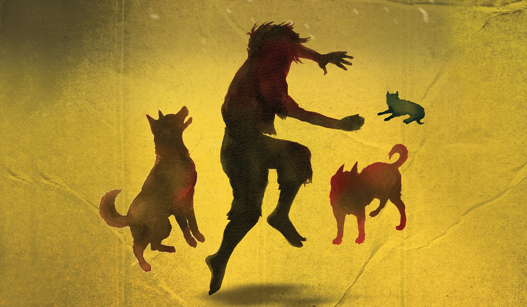 Detail from cover of DOG BOY
