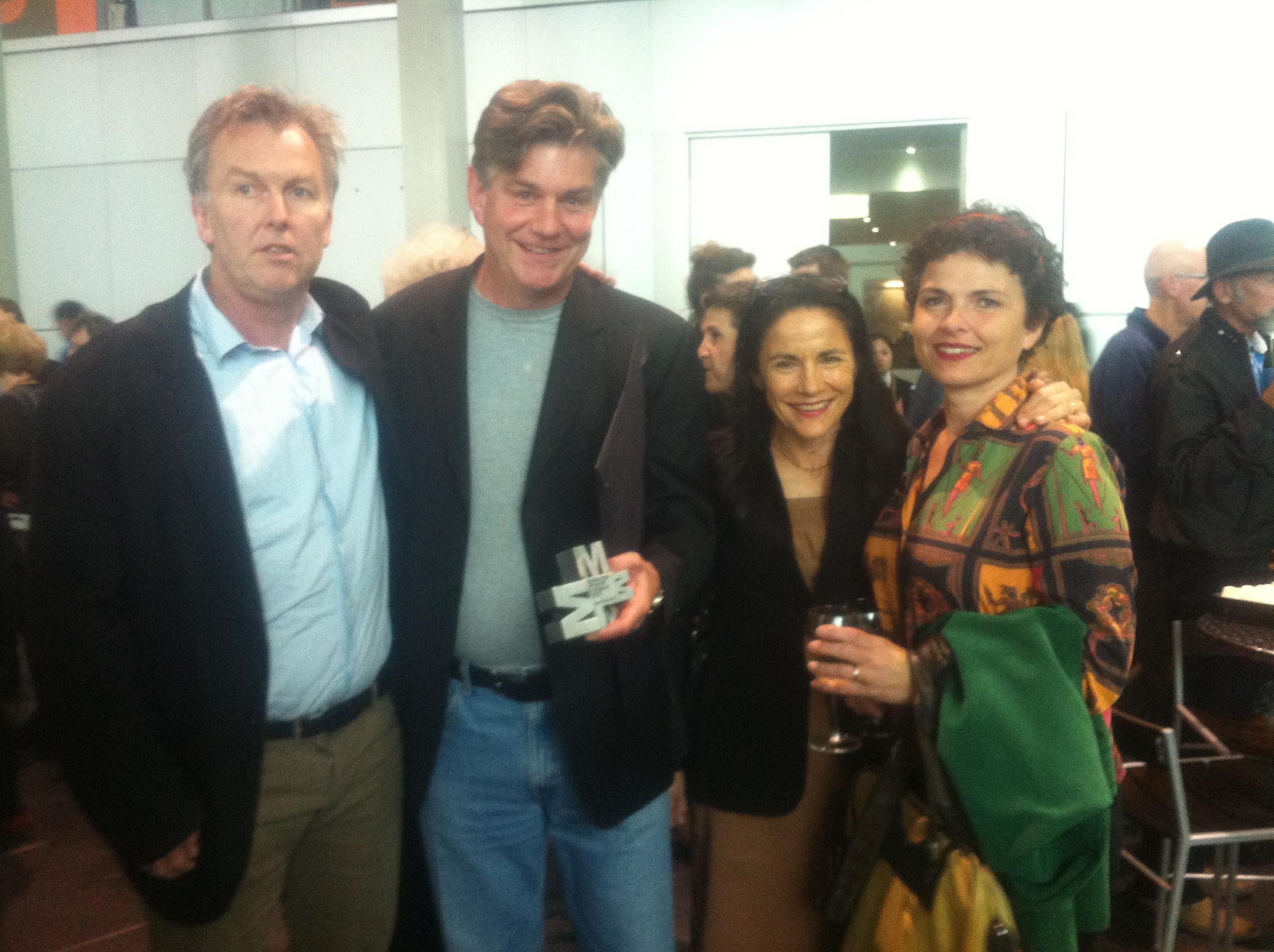 Publisher Michael Heyward, Craig Sherborne, Senior Editor Penny Hueston and Craig's partner, Janet.