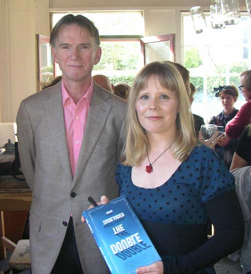 Maria with Peter Rose at the Geelong launch of *The Double*