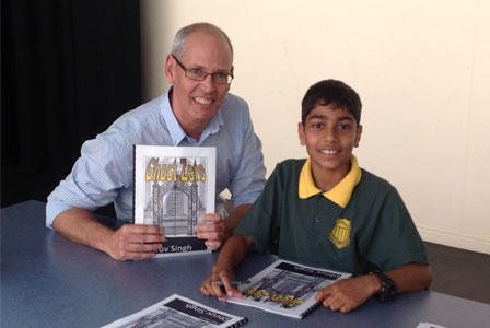 Dhruv Singh, winner of the best Billionaire story, with author Richard Newsome