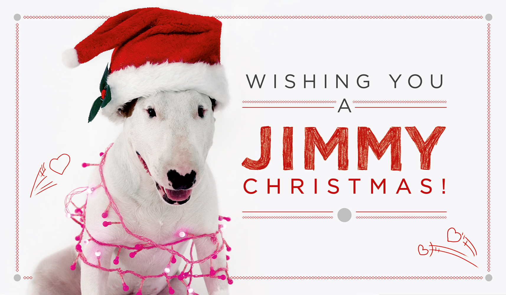 Jimmy the Dog Christmas Image