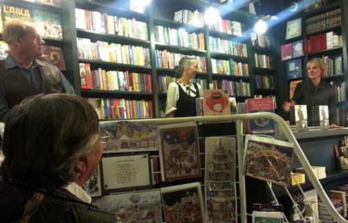 At the UK launch of *Madeleine*, L&R Bookshop, Notting Hill: Bruce Beresford, Sarah Lutyens and Helen Trinca