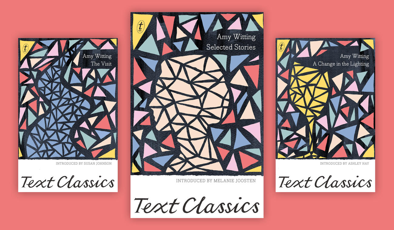 Covers of The Visit, A Change in the Lighting and Selected Stories by Amy Witting for the Text Classics series