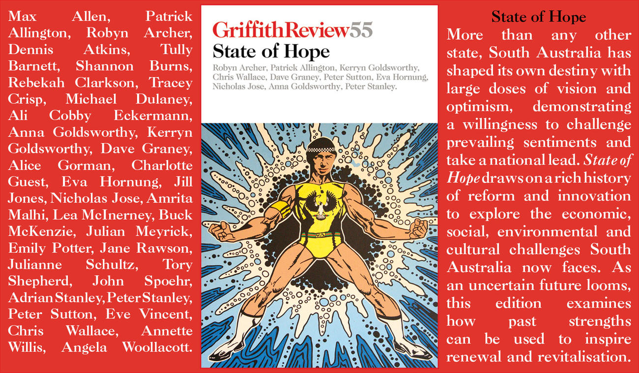 Griffith Review 55: State of Hope. Essay by Tory Shepherd